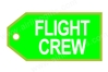 Flight Crew (Green) Bag Tag TAG209, ACI Aviation Jewelry and Bag Tags Item Number TAG209