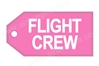 Flight Crew (Hi-Viz Pink) Bag Tag TAG208, ACI Aviation Jewelry and Bag Tags Item Number TAG208