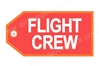 Flight Crew (Orange) Bag Tag TAG210, ACI Aviation Jewelry and Bag Tags Item Number TAG210