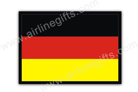 Germany Flag Patch (Iron On), ACI Aviation Jewelry and Bagtem Number