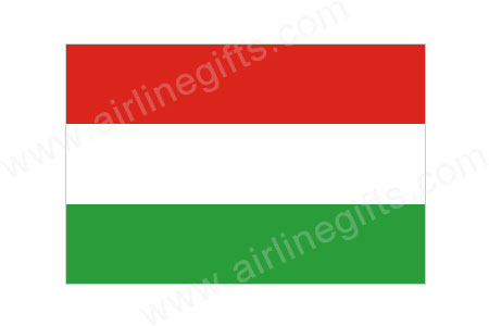 Hungary Flag Patch (Iron On), ACI Aviation Jewelry and Bagtem Number