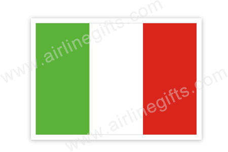 Italy Flag Patch (Iron On), ACI Aviation Jewelry and Bagtem Number