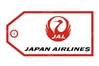 Japan Airlines Crane Bag Tag TAG235, ACI Aviation Jewelry and Bag Tags Item Number TAG235