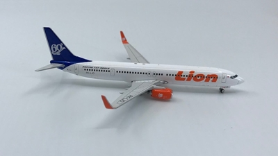 "Lion Air B737-900ER PK-LJO ""60TH"" (Blue Tail) (1:400), Phoenix 1:400 Scale Diecast Aircraft, Item Number PH4LNI784"