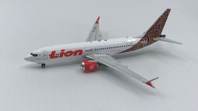 "Lion Air B737 MAX-8 ""Batik Tail"" PK-LQM (1:400) - , Phoenix 1:400 Scale Diecast Aircraft, Item Number PH4LNI1825"
