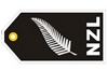 NZL Silver Fern Flag Bag Tag TAG316, ACI Aviation Jewelry and Bag Tags Item Number TAG316