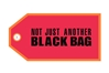 """Not Just Another Black Bag"" Bag Tag TAG411, ACI Aviation Jewelry and Bag Tags Item Number TAG411"