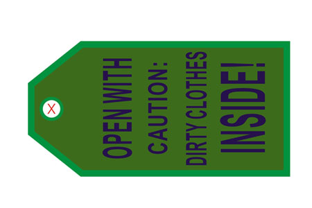 """Open with Caution"" Bag Tag TAG410, ACI Aviation Jewelry and Bag Tags Item Number TAG410"