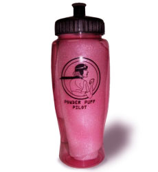 Powder Puff Pilot Aviatrix Sport Bottle 28 oz, Powder Puff Pilots Item Number SB28O