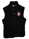 Powder Puff Pilot Ladies Microfleece Vest-Black