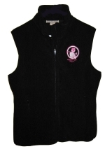 Powder Puff Pilot Ladies Microfleece Vest-Black, Powder Puff Pilots Item Number MVB