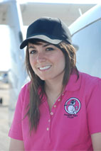 Powder Puff Pilot Ladies Polo Shirt Pink