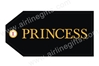 Princess Bag Tag (Black) TAG204, ACI Aviation Jewelry and Bag Tags Item Number TAG204
