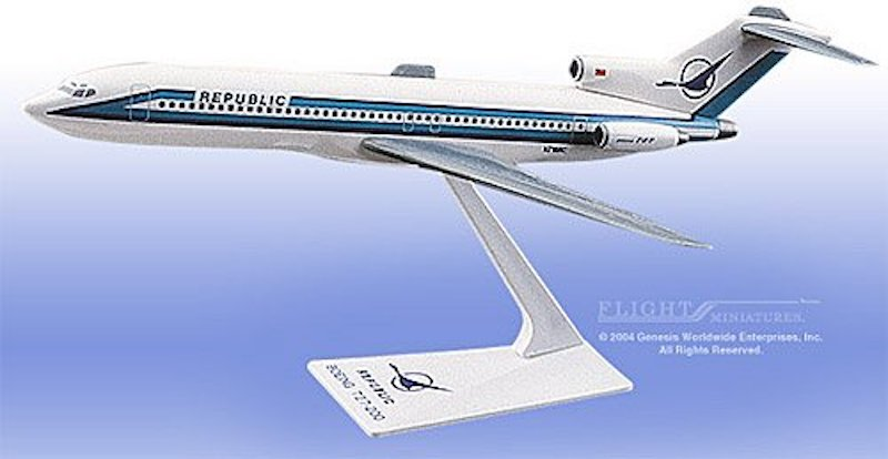 "Republic 727-200 ""Herman Scheme"" LP10210 (1:200) by Flight Miniatures Snap-Fit Airliners SKU BO-72720H-013"