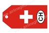 Swiss Flag Bag TagTAG322, ACI Aviation Jewelry and Bag Tags Item Number TAG322