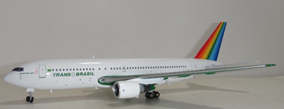 "Transbrasil 767-300 ""Green"" PT-TAC (1:200), JC Wings Diecast Airliners, Item Number JC2TBA730"