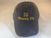 Women Fly Hat: Black Hat/Golden Yellow Embroidery, Women Fly Item Number HT-WFBKGY