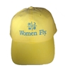 Women Fly Hat: Yellow Hat/Teal Blue Embroidery, Women Fly Item Number HT-WFYTB
