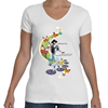 "Women Fly ""Princess"" V-Neck T-Shirt"