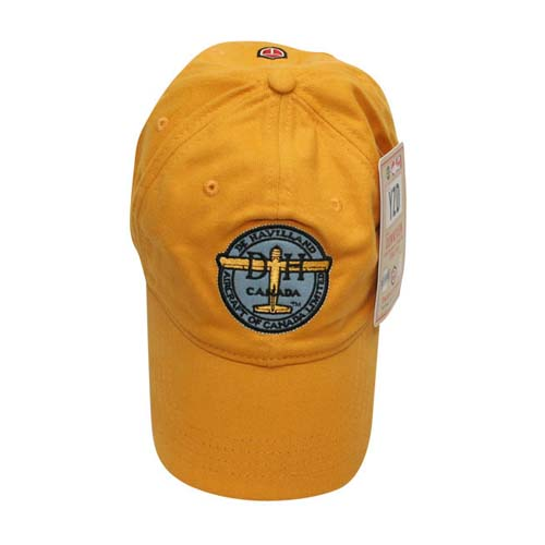 De Havilland Cap - Burnt Yellow, Red Canoe Aviation Gifts Item Number U-CAP-DHC-01-BY