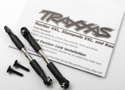 Turnbuckles - camber link - 39mm (69mm center to center) (front) (assembled with rod ends and hollow balls) (1 left - 1 right), Traxxas Radio Control Item Number TRX3644