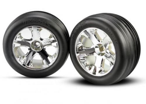 Alias Tires Pre Glued On All Star Chrome Wheels - 12mm Hex Fit, Traxxas Radio Control Item Number TRX3771