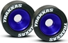 Mounted Wheelie Bar Tires/Wheels Blue (2), Traxxas Radio Control Item Number TRX5186A