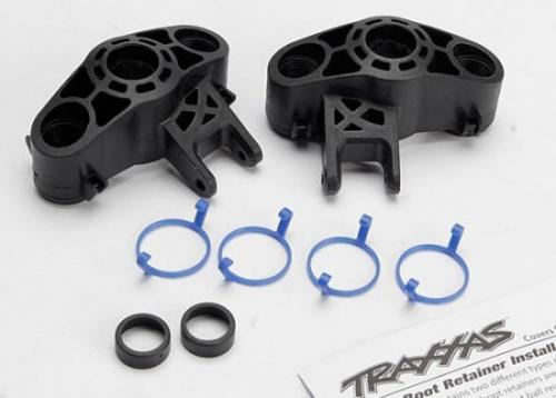Axle Carriers - Left & Right (1 Each) (Use With Larger 6X13Mm Ball Bearings)/ Bearing Adapters (For 6X12Mm Ball Bearings) (2)/ Dust Boot Retainers (4), Traxxas Radio Control Item Number TRX5334R