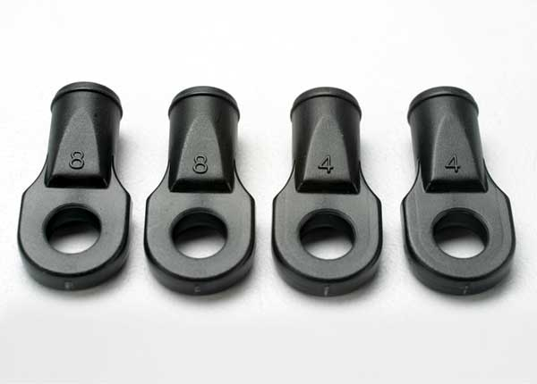 Rod Ends For Toe Link Revo (4), Traxxas Radio Control Item Number TRX5348