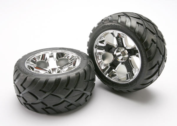 Anaconda Tires/All Star Wheels Front Jato 3.3, Traxxas Radio Control Item Number TRX5577R