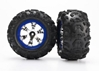 Tires And Wheels - Assembled (Geode Chrome - Blue -Canyon At Tires), Traxxas Radio Control Item Number TRX7274