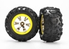 Tires And Wheels - Assembled (Geode Chrome - Yellow -Canyon At Tires), Traxxas Radio Control Item Number TRX7276