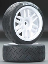 BF Goodrich Tires on 1/16 Rally Wheels (2), Traxxas Radio Control Item Number TRX7372