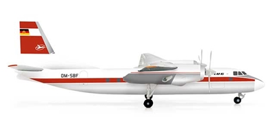Interflug AN-24V (1:200), Herpa 1:200 Scale Diecast Airliners Item Number HE554374