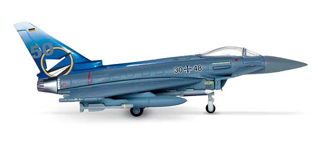 Luftwaffe Eurofighter Typhoon JG74 50 Jahre (1:200), Herpa 1:200 Scale Diecast Airliners Item Number HE554466