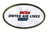 United Airline Retro Patch (Iron On Applique), ACI Aviation Jewelry and Bag Tags Item Number APP005