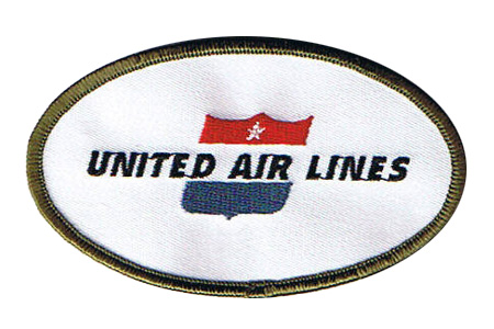 United Airline Retro Patch (Iron On), ACI Aviation Jewelry and Bagtem Number