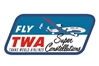 TWA Constellation Patch (Iron On Applique), ACI Aviation Jewelry and Bag Tags Item Number APP018