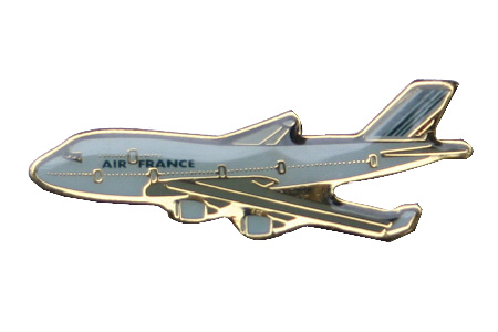 Air France B747 Lapel Pin / Tie Tack, ACI Aviation Jewelry and Bag Tags Item Number PIN307