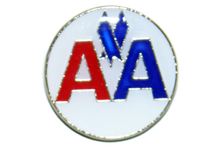 AA Round Lapel Pin / Tie Tack, ACI Aviation Jewelry and Bag Tags Item Number PIN407