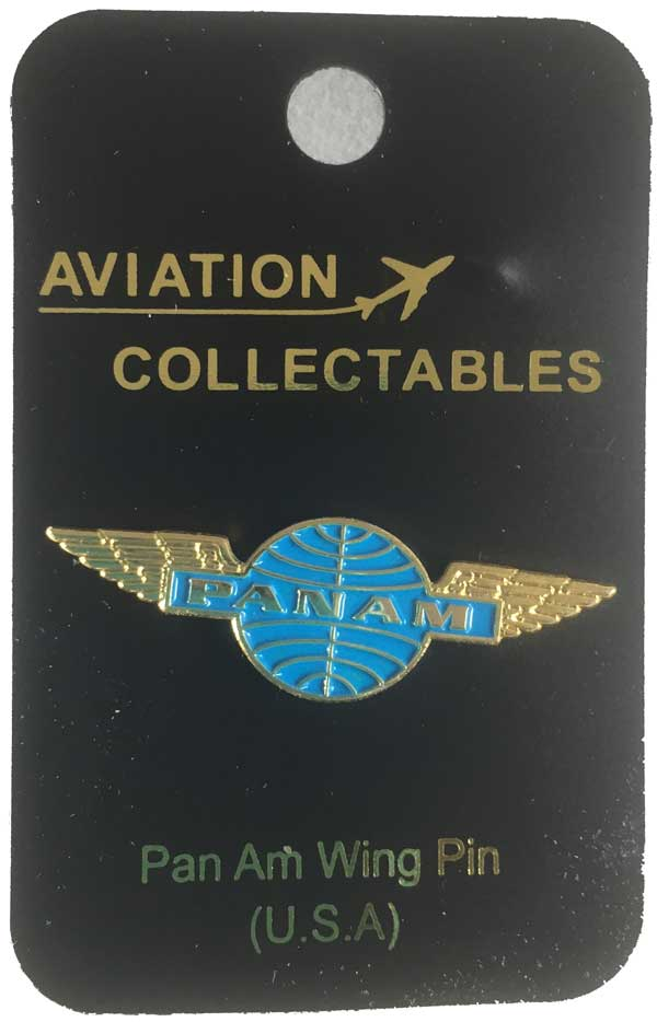Pan Am Gold Wing PIN, ACI Aviation Jewelry and Bag Tags Item Number PIN451