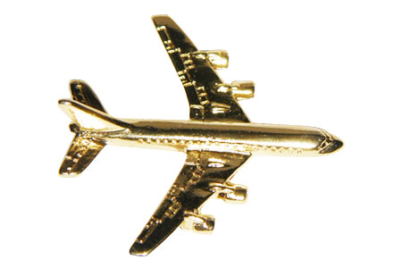 Boeing 707 3D (Gold) Lapel Pin / Tie Tack