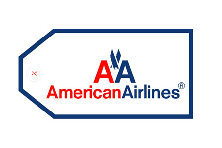 American Airlines Bag Tag, ACI Aviation Jewelry and Bag Tags Item Number TAG023