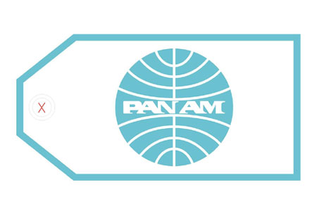 Pan Am Bag Tag, ACI Aviation Jewelry and Bag Tags Item Number TAG151