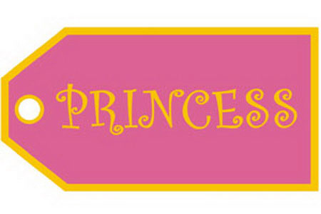 Princess Bag Tag, ACI Aviation Jewelry and Bag Tags Item Number TAG202