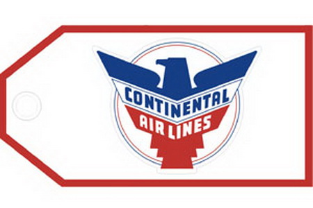 Continental Retro Bag Tag, ACI Aviation Jewelry and Bag Tags Item Number TAG221