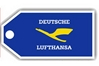 Lufthansa Retro Bag Tag, ACI Aviation Jewelry and Bag Tags Item Number TAG222