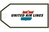 United Retro Bag Tag, ACI Aviation Jewelry and Bag Tags Item Number TAG224