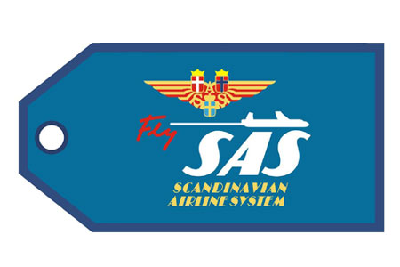 SAS Retro Bag Tag, ACI Aviation Jewelry and Bag Tags Item Number TAG260