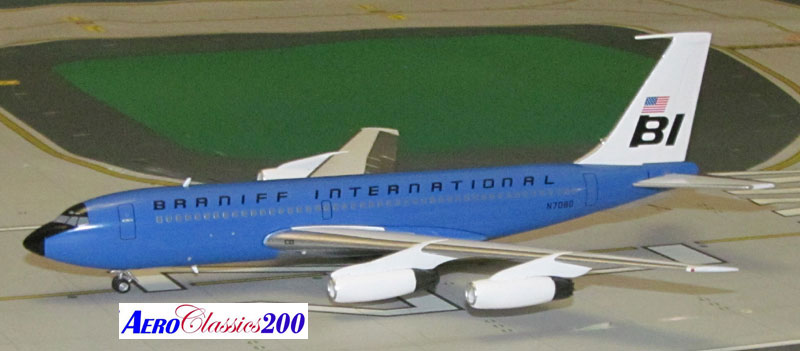 "Braniff International B720 N7080 ""Blue"" (1:200), Western Models Item Number AC2BNF1215B"